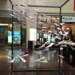Store windows in Dallas: Paper Airplanes