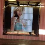 Store windows in Dallas: Victoria's Secret Angel Candice Swanepoel