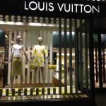 Store Windows in San Francisco: Louis Vuitton in Checks & Stripes