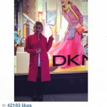 From Instagram: Rita Ora in #DKNY Store Window
