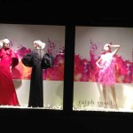 Christmas Store Windows: Free Shipping. Free Returns