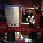 Store Windows in Dallas: After Christmas Sale at H&M