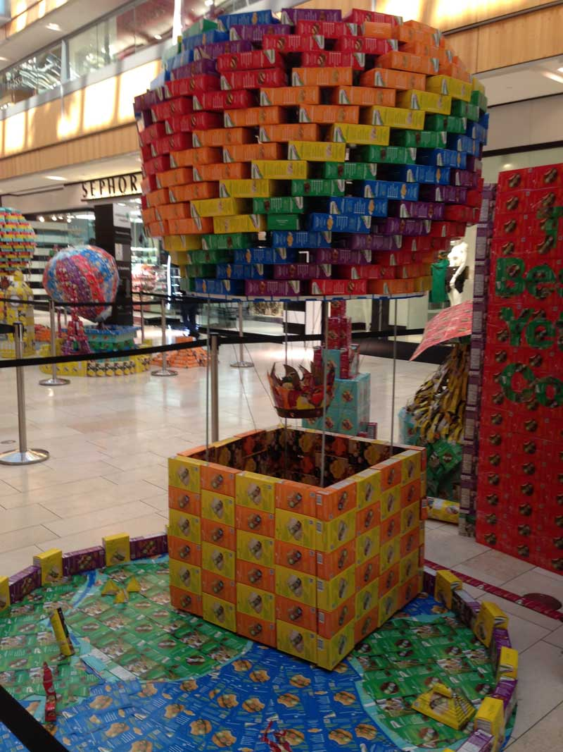 around the world with girl scout cookies   store windows