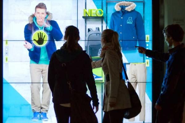 adidas interactive store window