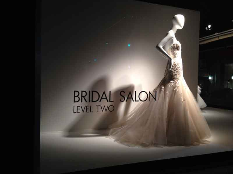 Store Windows At Neiman Marcus Bridal Salon Store Windows At Fashionwindows,Midi Wedding Guest Dresses With Sleeves