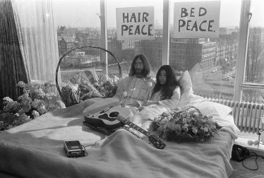 John Lennon and Yoko Ono Bed-In for Peace